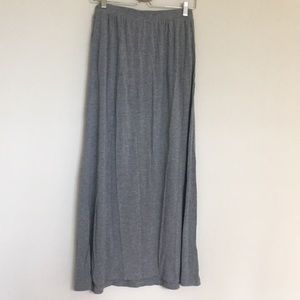 H&M Grey stretchy maxi skirt with pockets
